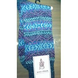 Scott-Nichol cashmere sokker med flotte farvede mønstre