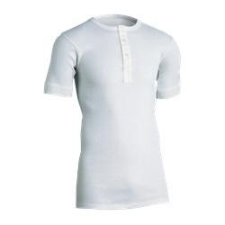 Klassisk undertrøje med korte ærmer og montering/knaplukning