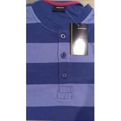 Jersey pyjamas med knaplukning i 0-hals fra Seidensticker