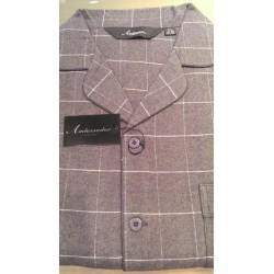 Klassisk flonel pyjamas med knapper fra Ambassador