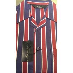 Klassisk poplin pyjamas med knapper fra Ambassador