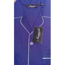 Poplin pyjamas m/korte ben og ærmer og med knapper fra Ambassador