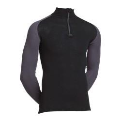 Uldundertrøje, Langærmet T-shirt med lynlås i kraven fra JBS