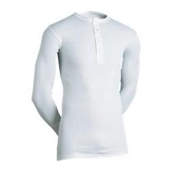 Klassisk undertrøje med lange ærmer og montering/knapper