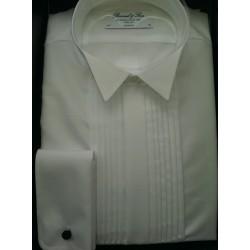 Smokingskjorte Body Cut med knækflip og plissé fra Bosweel