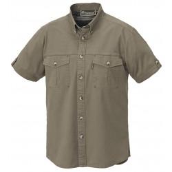 Canvas safariskjorte med korte ærmer fra Pinewood