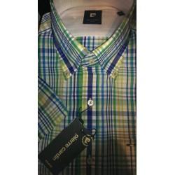 Skjorte m/korte ærmer fra Pierre Cardin