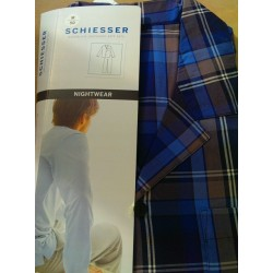 Klassisk poplin pyjamas fra Schiesser