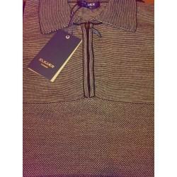 Pullover med Zipkrave fra Elkjær