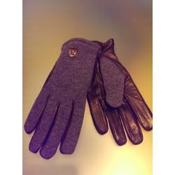 Uldstrikhandsker med skindbesætning fra Hestra Gloves