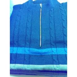 Pullover med lynlåskrave fra Elkjær