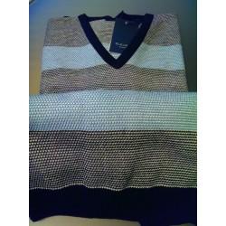 Pullover med V-hals fra Elkjær Strik