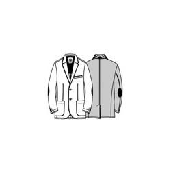 Casual lærredsjakke fra Digel