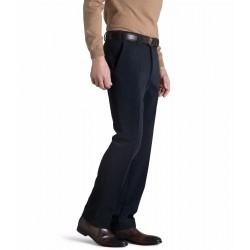 Fløjlsbukser i uld med stretch fra MEYER