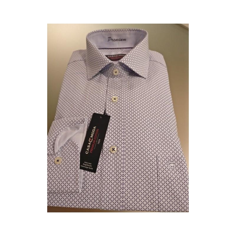 5a362389 Premium skjorte fra Casamoda Mønstret poplin skjorte med lange ærmer ...