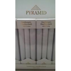 PYRAMID Lommetørklæder - Egyptisk bomuld - 3 Pack