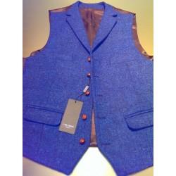 Harris Tweed vest i ren uld fra Carl Gross
