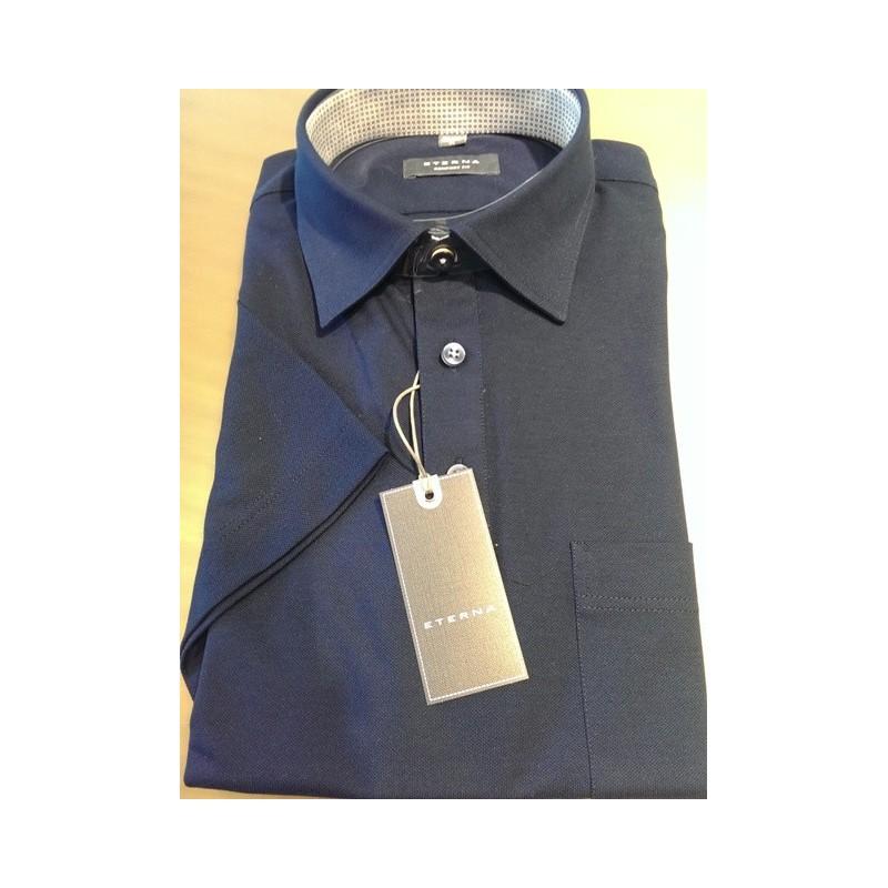 1ea429ee Polo skjorte fra Eterna Kontrast krave Comfort fit Brystlomme 100 ...